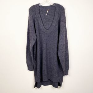 Free People Textured Oversized Sweater